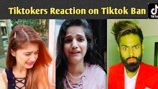 tiktokers reaction on tiktok Ban  tiktok banned in india tiktok ban unknown volcano