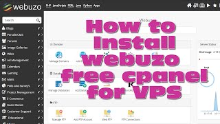 How to install webuzo cpanel for vps