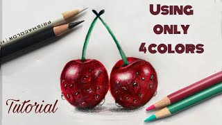 How To Draw Cherries | Colored Pencil Drawing For Beginners