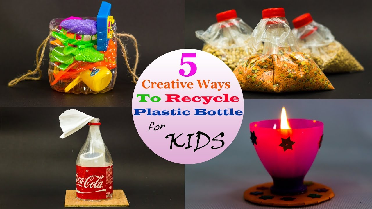 5 creative ways to recycle plastic bottles for kids youtube for Creative ways to recycle