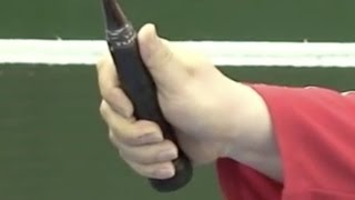 Badminton: Follow Lee (2) The Net Kill 2-5 (How to change Grip)