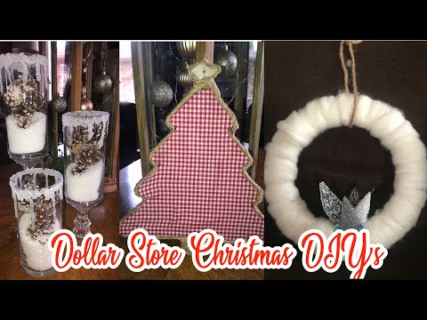 3 Cheap and Easy Dollar Store Christmas DIY's