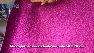 Microporoso escarchado morado 50 x 70 cm - Lima - Perú
