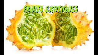 liste des fruits exotiques et tropicaux