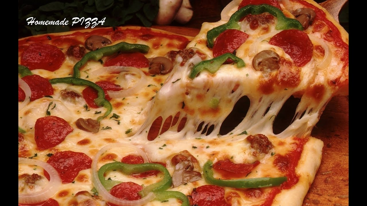 How To Make Pizza At Home Without Oven Veg Pizza Pizza In Kadhai Homemade Pizza Video Recipe Youtube