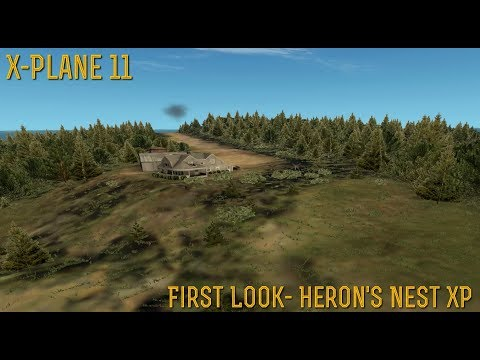 [X-Plane 11] (Oculus RIft) *FIRST LOOK* iBlueYonder's Heron's Nest for XP