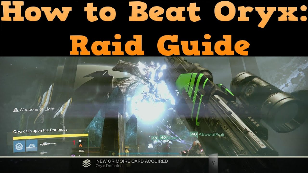 How To Beat Oryx King 39 S Fall Raid Guide Youtube
