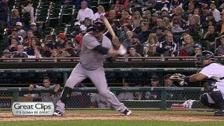 Giambi takes Valverde deep for solo homer