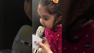 4 year girl singing on karaoke