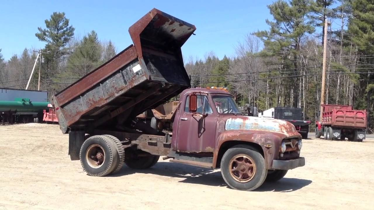 1955 Antique Ford F700 Dump Truck - YouTube