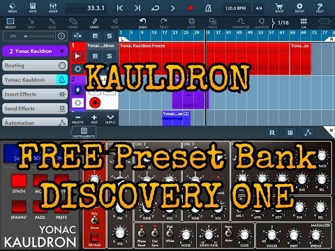 KAULDRON Synth - The DISCOVERY ONE Preset Bank 100% Free for a Limited Time