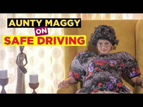 Dont text and drive, Drive safe and road safety in 'Driving amiss Maggy'