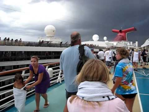 Carnival Legend crashes into Royal Caribbean Enchantment of the Seas Part 1 Cruise Ships Crash