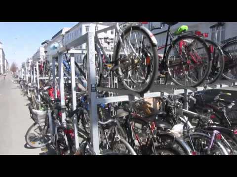 Double decker bike racks in Copenhagen