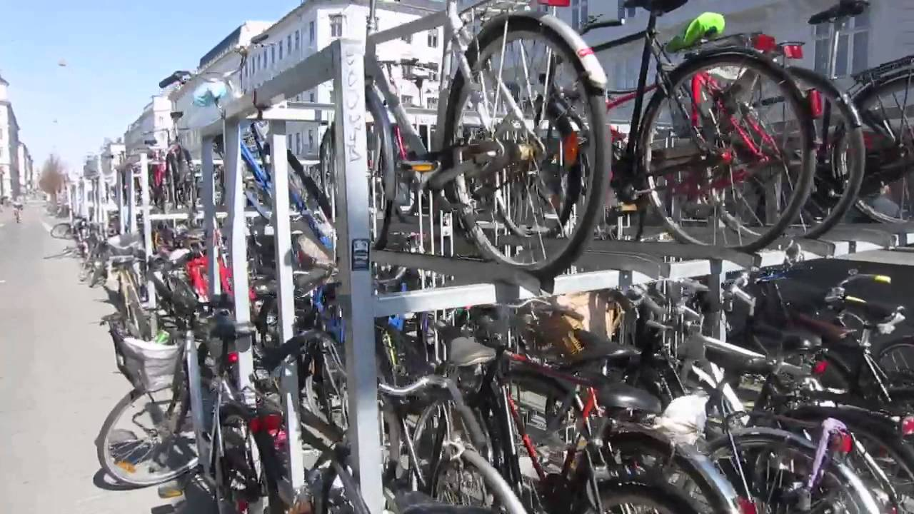 Double Decker Bike Racks In Copenhagen Youtube
