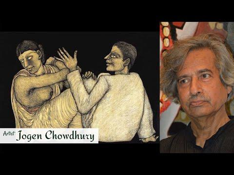 Artist Jogen Chowdhury | Kolkata Artist | Painting