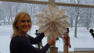 video thumbnail: Paper Bag Snowflake Craft Tutorial