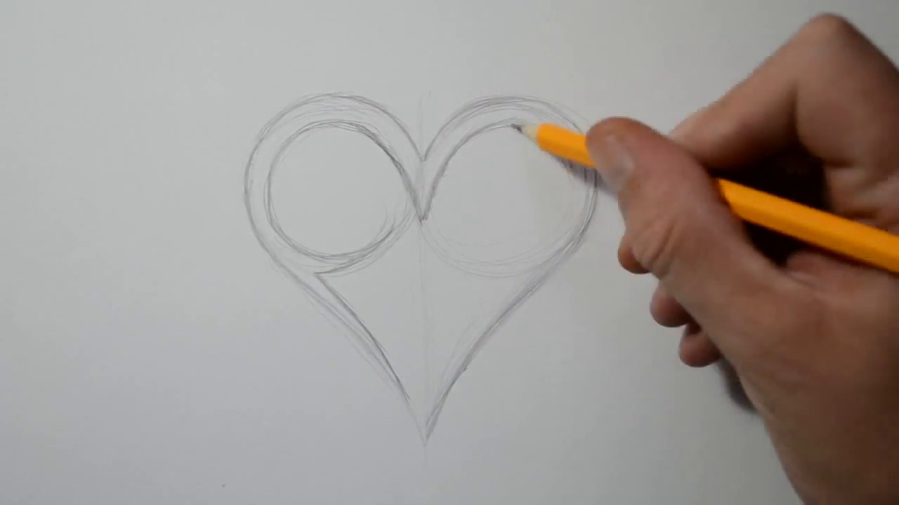 How To Draw A Heart And Rose
