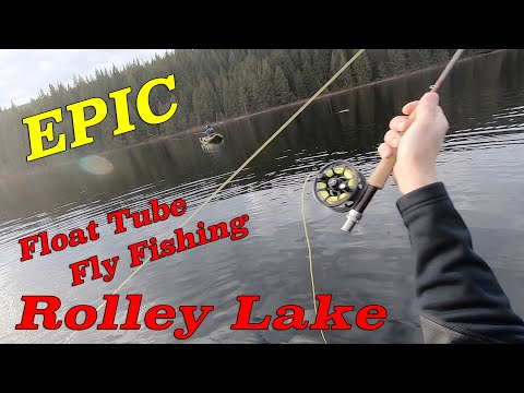 EPIC Float Tube Fly Fishing At Rolley Lake, By Louie Molnar