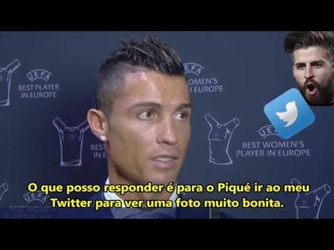 POLÊMICA: Cristiano Ronaldo responde nova provocação do Piqué!