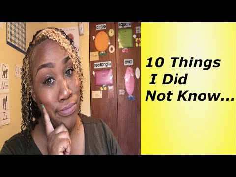 10 Things I Did Not Know..../Child Care Business Owner/Day Care Provider