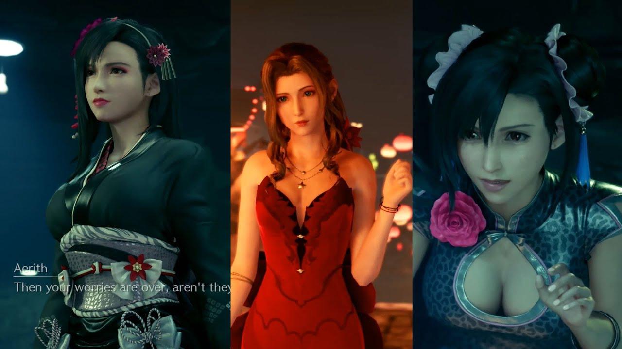 Final Fantasy VII Remake All Nine Bridal Dresses