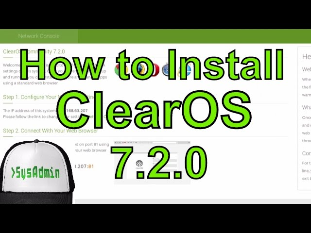 How to Install Configure ClearOS 7 2 + VMware Tools on