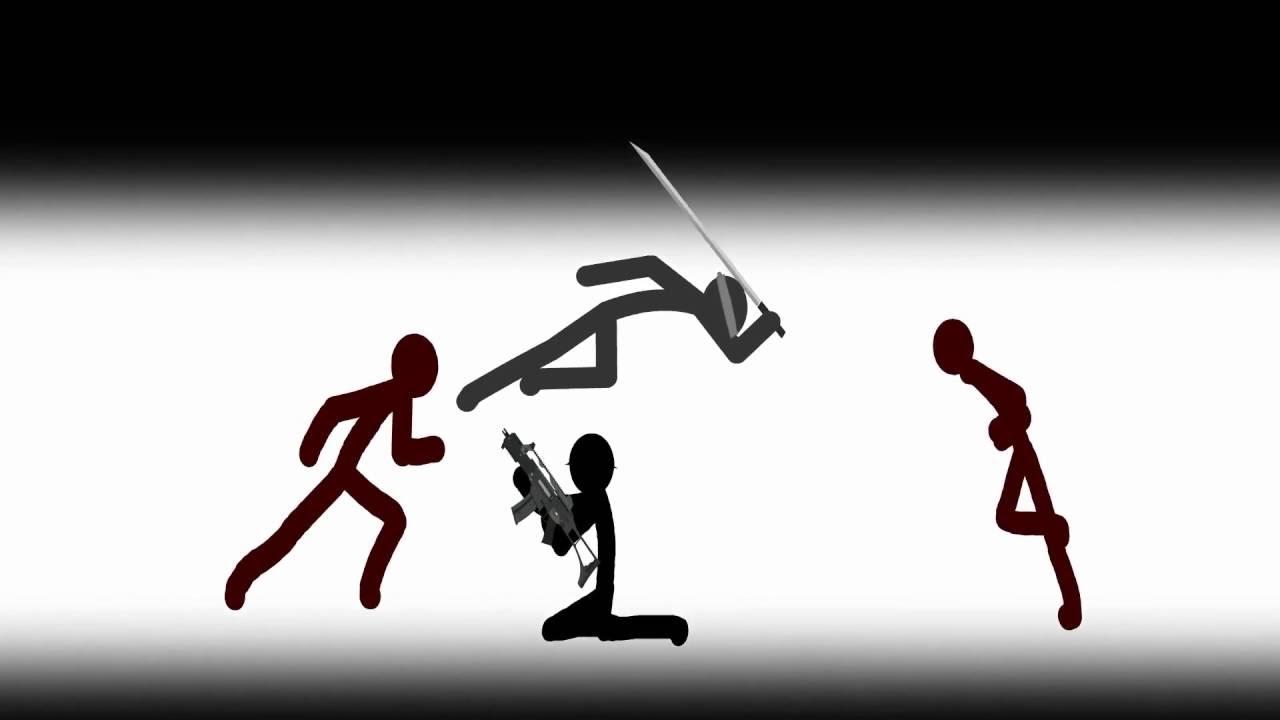 Best fight scenes stick figure animation part 1