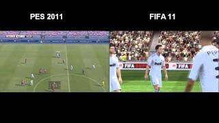 PES 2011 vs FIFA Soccer 11 (PS3) -  featuring Real Madrid vs FC Barcelona