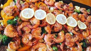 Shrimps on forest recipe ( how to cook shrimps)