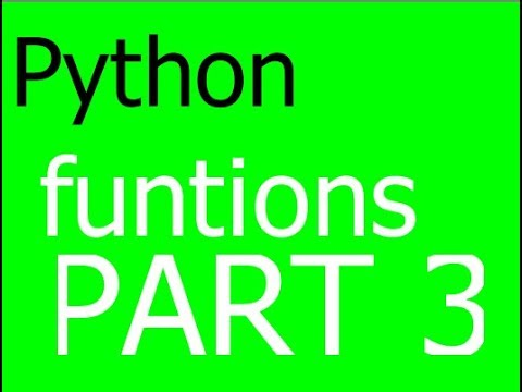 Python Programming for kids part 3: Functions and Parameters