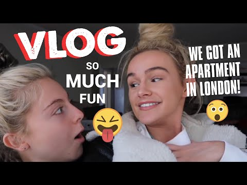 WE GOT AN APARTMENT IN LONDON?! | VLOG | SYD AND ELL