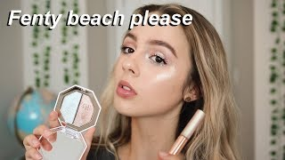 Testing the NEW FENTY BEAUTY BEACH PLEASE! Collection review + demo   Liv Markley