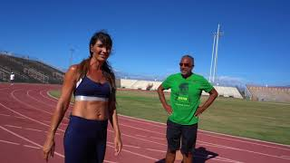 With my Coach on the Track: Sprint Techniques for Beginners