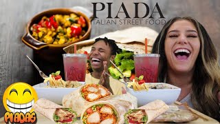 Piada Italian Street Food Mukbang With Darius