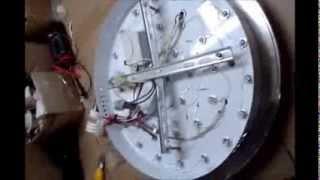 Ремонт светодиодного светильника (замена блока питания)(Показан ремонт светодиодного светильника, а именно замена блока питания, в этом светильнике не переключали..., 2013-11-14T14:54:29.000Z)