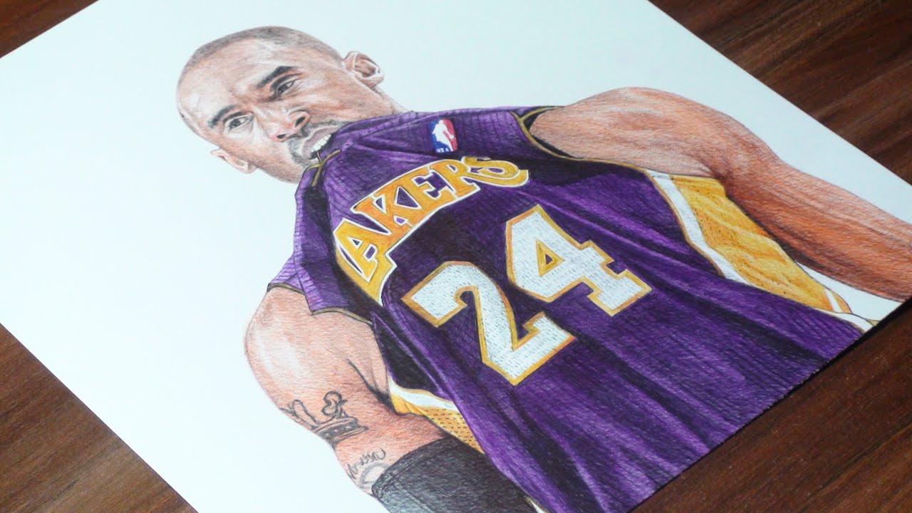 08d98c3b6c1 Kobe Bryant Pen Drawing - LA Lakers - DeMoose Art - YouTube