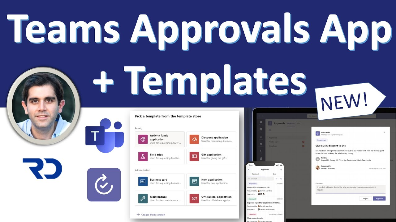 New Approvals App Templates in Microsoft Teams