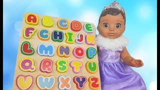 ABC Song Baby doll Learn english Alphabet video for kids