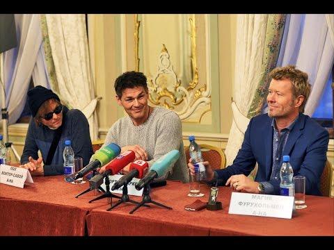 Пресс-конференция a-ha в Санкт-Петербурге 9 марта 2016