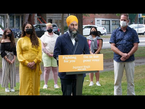 'Selfish summer election': NDP Leader Singh calls out Trudeau
