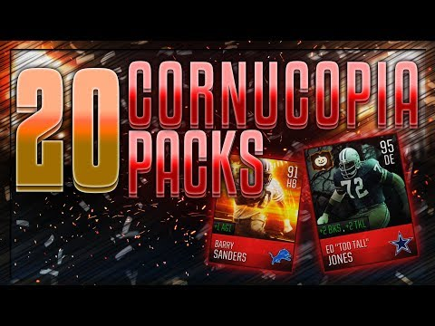 PULLED THE MOST EXPENSIVE PLAYER IN MADDEN MOBILE! MADDEN MOBILE 18 CORNUCOPIA PACKS OPENING!