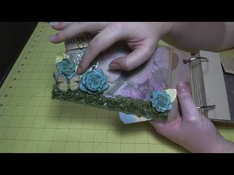 Scrapbook Mini Album: Flora & Fauna Paper Bag Album Update