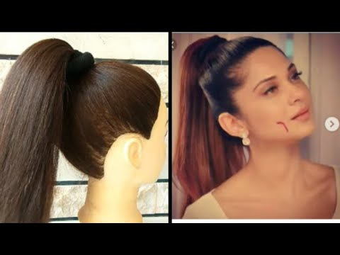EASY HIGH PONYTAIL WITH TRICK FOR COLLEGE \\ OFFICE \\ OUTGOING GIRLS INSPIRED BY JENNIFER WINGET thumbnail