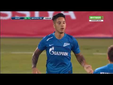 Sebastián Driussi GOAL. Zenit 5-1 Dinamo Minsk | 16/08/2018. Europa League, 3rd QR, 2nd Leg