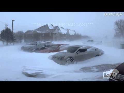 2-2-16 Norfolk, NE Blizzard Conditions