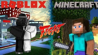 ROBLOX vs Minecraft - The Battle - Movie by Roblox Minigunner