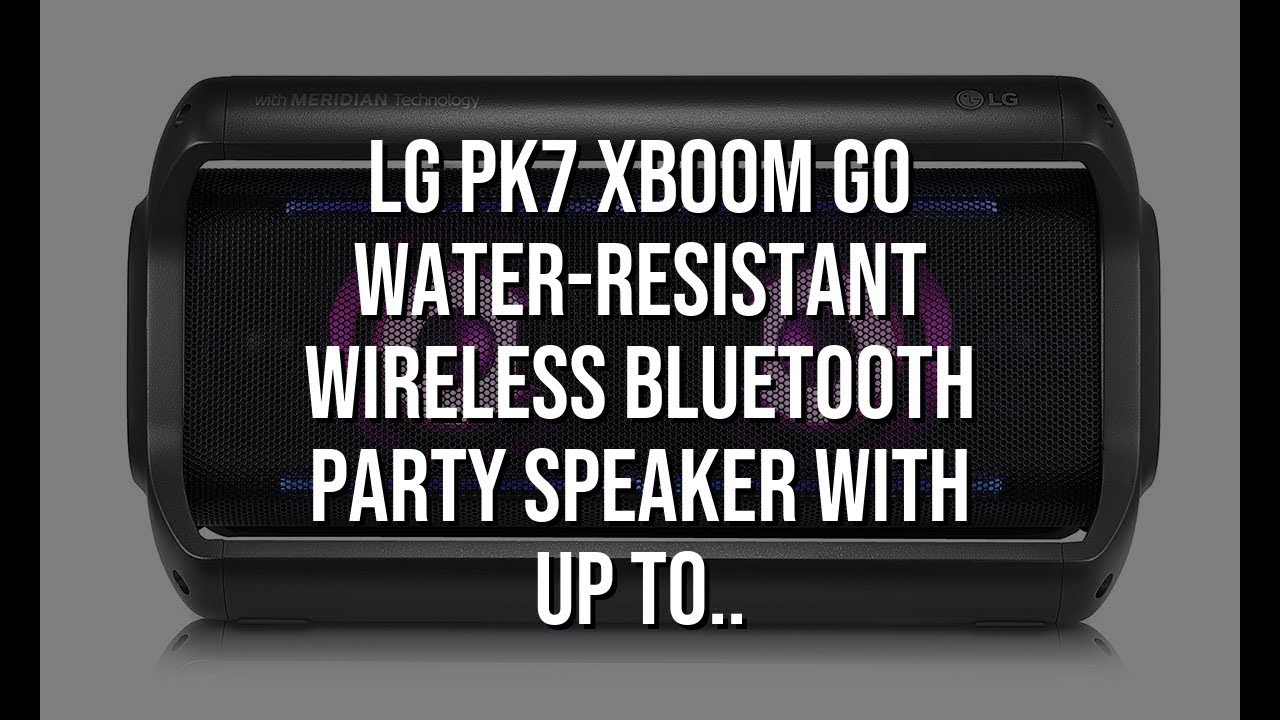 474fd5d79b6 LG PK7 XBOOM Go Water-Resistant Wireless Bluetooth Party Speaker with Up To 22  Hours Playback