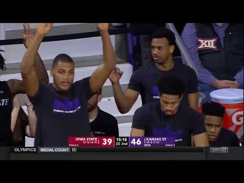 Iowa State vs Kansas State Men's Basketball Highlights