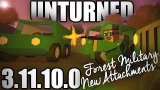 Unturned 3.11.10.0: FOREST GEAR & ATTACHMENTS (Adaptive Chambering, Rangefinder, Extended Mags)